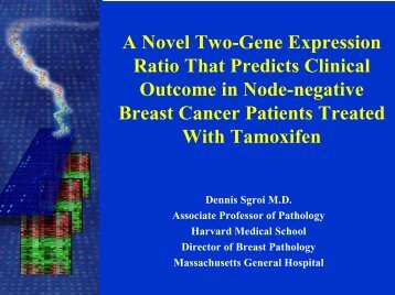 A Novel Two-Gene Expression Ratio That Predicts Clinical Outcome ...