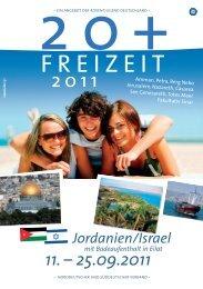 Flyer 20+ Jordanien Israel 2011.indd - Auf den Spuren der Pioniere