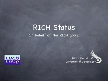 On behalf of the RICH group - PNPI HEPD Home page