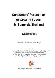 Perception of Organic Foods in Bangkok, Thailand - und ...