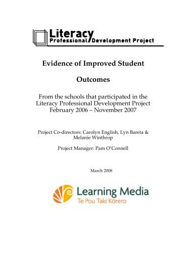 Student achievement findings for Cohort 2 of the ... - English Online