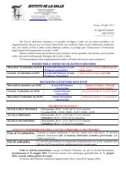 Circolare informativa a.s. 2013/2014 - Colle la Salle
