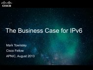 The Business Case for IPv6