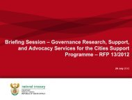 Cities Support Programme
