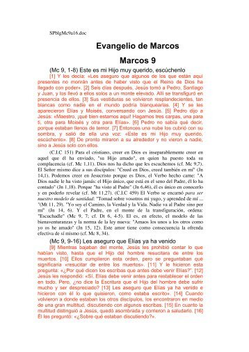 Evangelio de Marcos Marcos 9