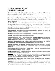 ANNUAL TRAVEL POLICY Terms and Conditions