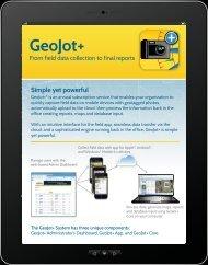 GeoJot+ tablet brochure.pdf - GeoSpatial Experts