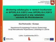 Instrukcją wypełniania wniosku o dofinansowanie projektu ... - EFS