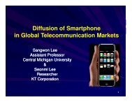 Diffusion of Smartphone in Global Telecommunication Markets