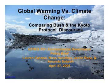 Global Warming Vs. Climate Change: - Department of Natural ...