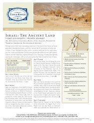 Israel: The Ancient Land - Cox & Kings