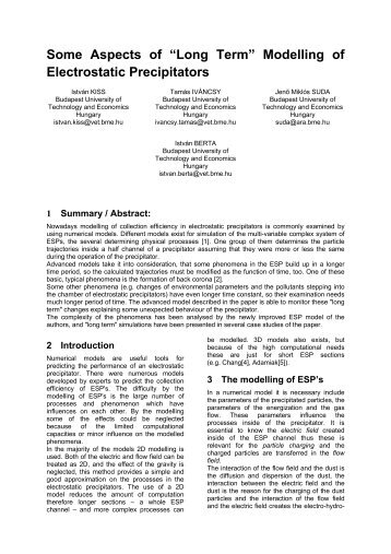 "Some Aspects of ""Long Term"" Modelling of Electrostatic ... - isesp"