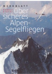 Merkblatt über sicheres Alpen-Segelfliegen als PDF