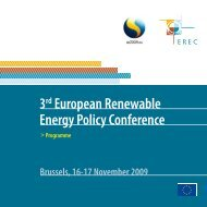 3rd European Renewable Energy Policy Conference