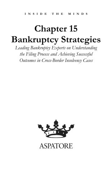Chapter 15 Bankruptcy Strategies - Gowlings