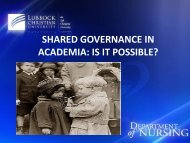 SHARED GOVERNANCE IN ACADEMIA: IS IT POSSIBLE? - IUPUI