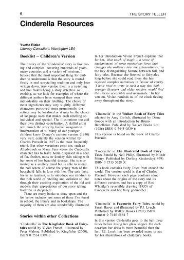 Cinderella resources - NAACE Primary