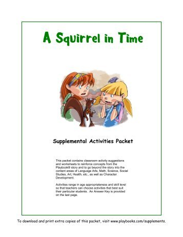 Supplemental Activities Packet - Playbooks® Roleplay Reader