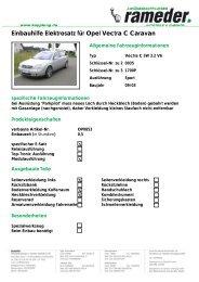 Einbauhilfe Elektrosatz für Opel Vectra C Caravan - Motor-Talk