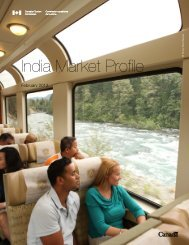 India Market Profile - Canadian Tourism Commission - Canada