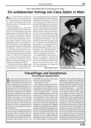 Ein unbekannter Vortrag von Clara Zetkin in Wien - Alfred Klahr ...