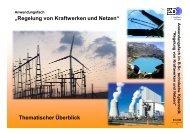 """""""Regelung von Kraftwerken und Netzen"""" Thematischer Überblick"""