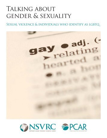 Talking about gender & sexuality - National Center on Domestic and ...