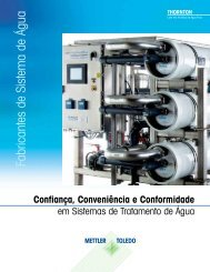 Fabricantes de Sistem a de Água - METTLER TOLEDO