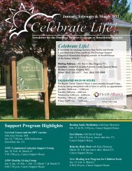 Celebrate Life! - HealthAlliance of the Hudson Valley