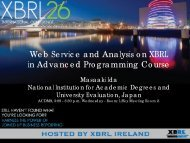 Web Service and Analysis on XBRL in Advanced Programming ...