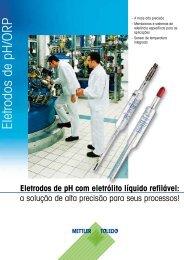 Eletrodos de pH/ORP - METTLER TOLEDO