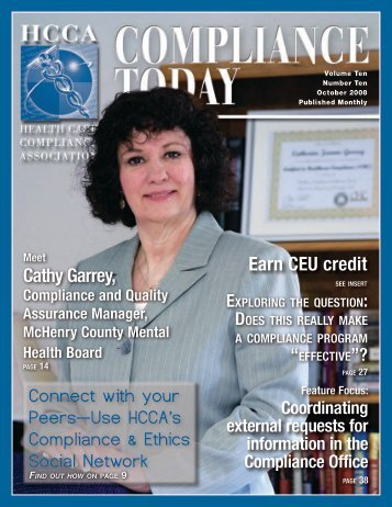 Earn CEU credit Cathy Garrey, Connect with your - Health Care ...