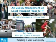 Air Quality Management via Local Transport Plans (LTP) - IAPSC