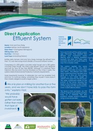 Direct Application Effluent System - Dairying For Tomorrow