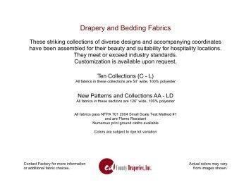 Drapery And Bedding Fabrics