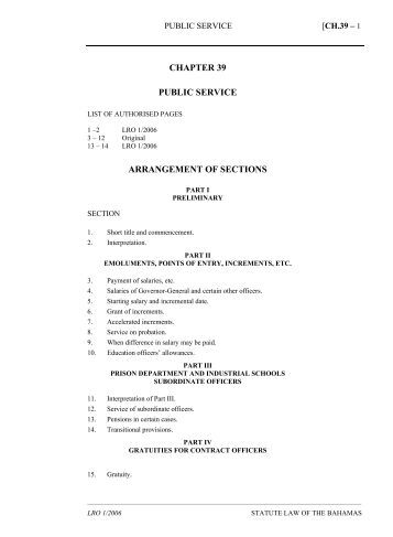 Public Service Act - The Bahamas Laws On-Line - The Government ...