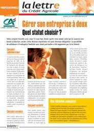 Lettre Pro n° 4-2005 - Crédit Agricole Loire Haute Loire