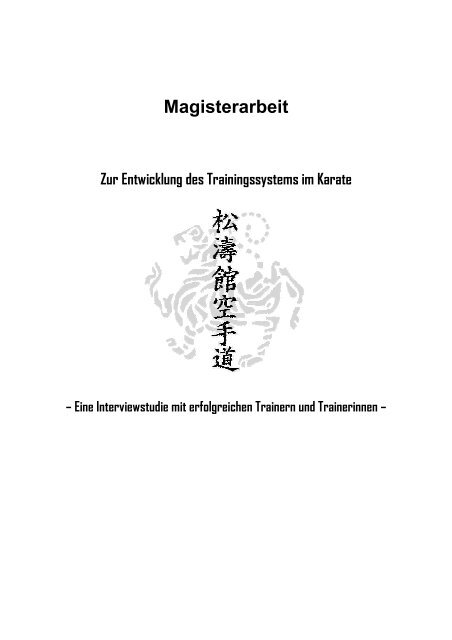 Magisterarbeit - Karate-Budo-Torgelow