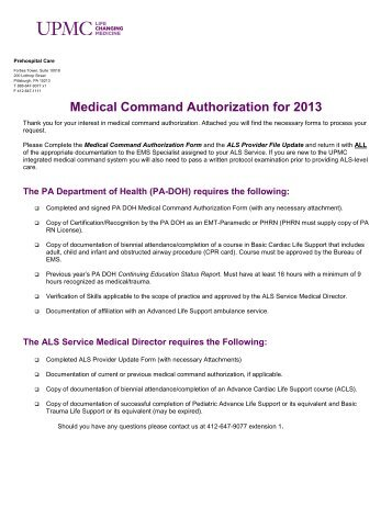 Electronic Record Request (CD Only) Authorization for ... - UPMC.com