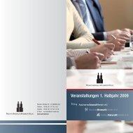 Veranstaltungen 1. Halbjahr 2009 - Rechtsanwaltskammer Köln