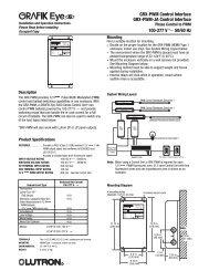 GRX-PWM Control Interface -  Lutron Lighting Installation Specialists