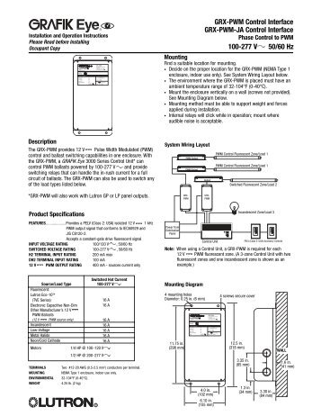 grx pwm control interface lutron lighting installation specialists vape mod wiring diagram tiny pwm wiring diagram at bayanpartner.co
