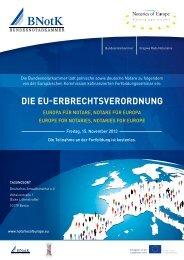 DIE EU-ERBRECHTSVERORDNUNG - Bundesnotarkammer