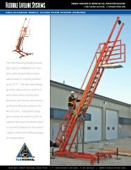 Freestanding Mobile Access Stair System - Flexible Lifeline Systems