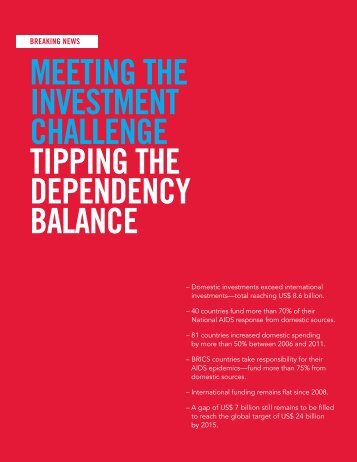 Meeting the investment challenge - HIV/AIDS Data Hub