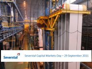 Severstal Capital Markets Day – 29 September 2011 Draft as of 20 ...