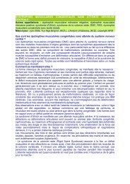 Dystrophies musculaires congénitales sans atteinte ... - ASRIM