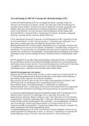 Årsredovisning 2007 (pdf, 25 kB) - GIH