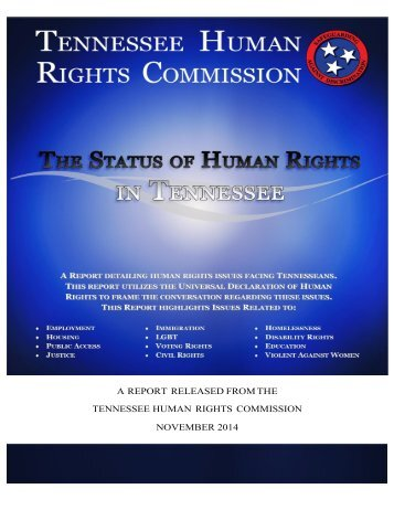 FINAL The Status of Human Rights in Tennessee 11.21.14