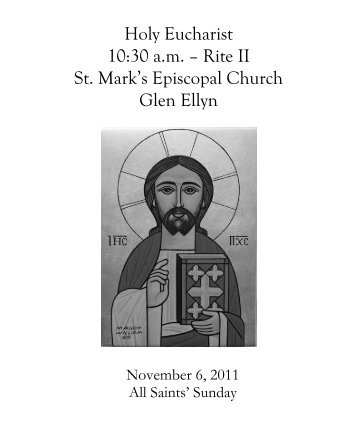 Sunday Bulletin for November 6, 2011 - St. Mark's Episcopal Church